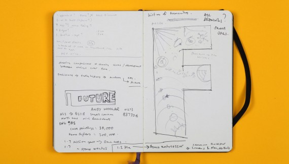 Springfield School Future wall sketchbook page 2 Shadric Toop