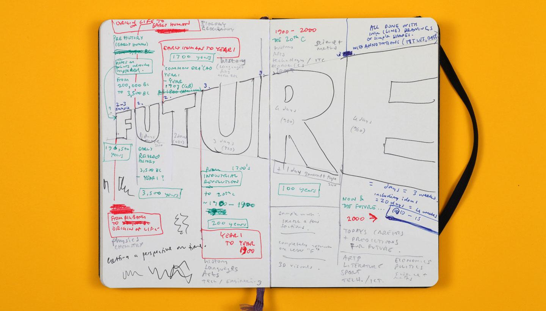 Springfield School Future wall sketchbook Shadric Toop