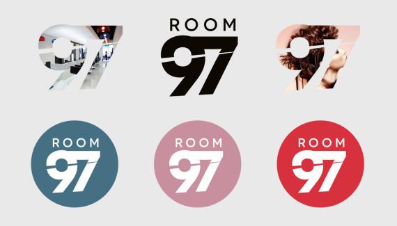 Room 97 creative hairdressing logo variations