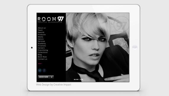 Room 97 website on ipad