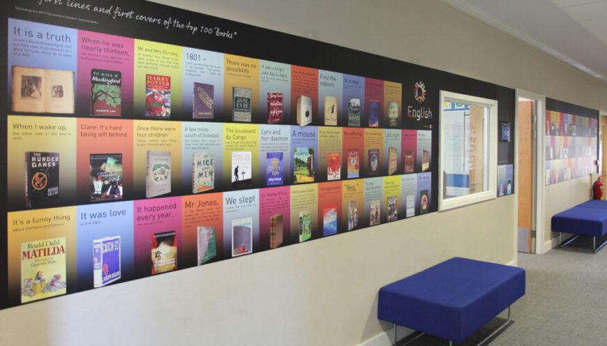 School wall graphics english