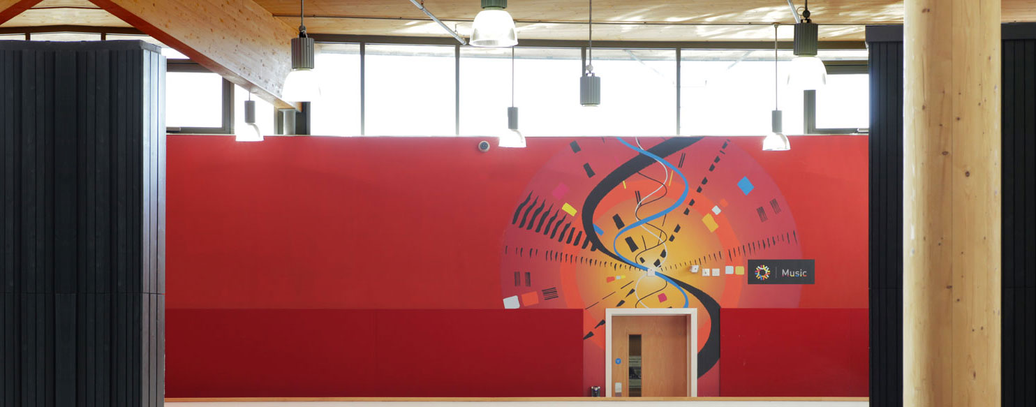 School music wall design