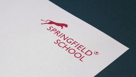Springfield School logo on letterhead Stationery designed by Shadric Toop