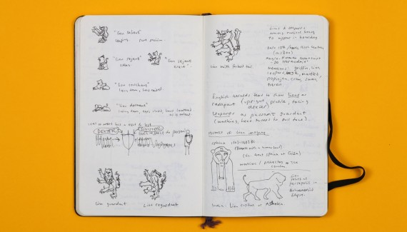 Springfield School rebrand sketchbook designs Shadric Toop