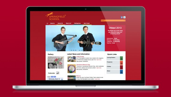 Springfield School website designed by Toop Studio in Brighton