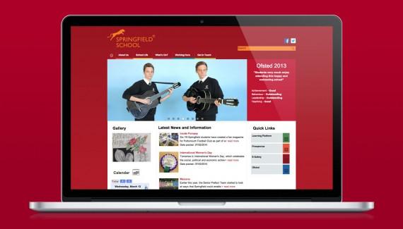 Springfield School website designed by Toop Studio in Brighton