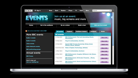 BBC Events website