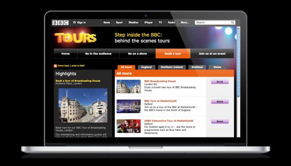 BBC Tours website