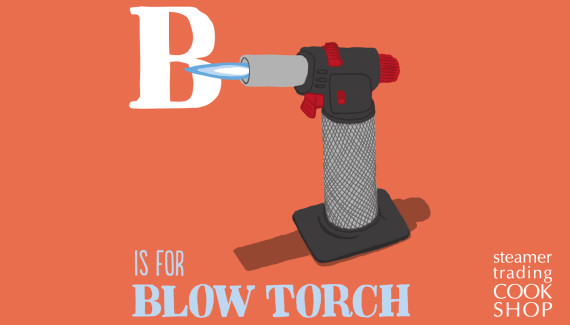 Steamer Trading illustration of blow torch by Shadric Toop
