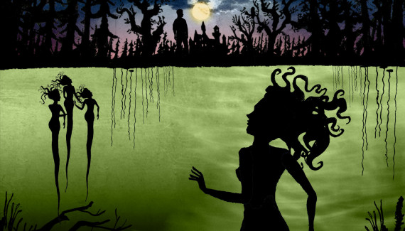 Glyndebourne Rusalka shadow puppet illustration