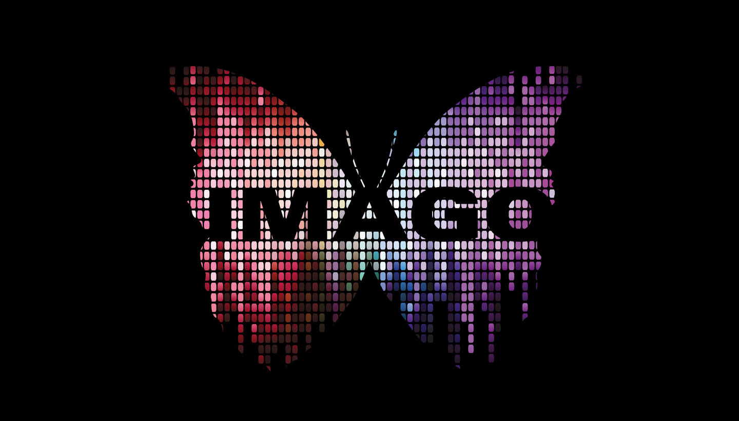 Glyndebourne imago community opera logo based on a digital butterfly