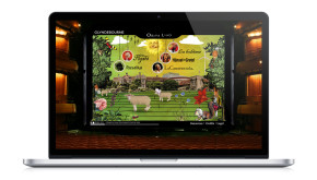 Glyndebourne Operaland Website for young people showing collaged animated home page