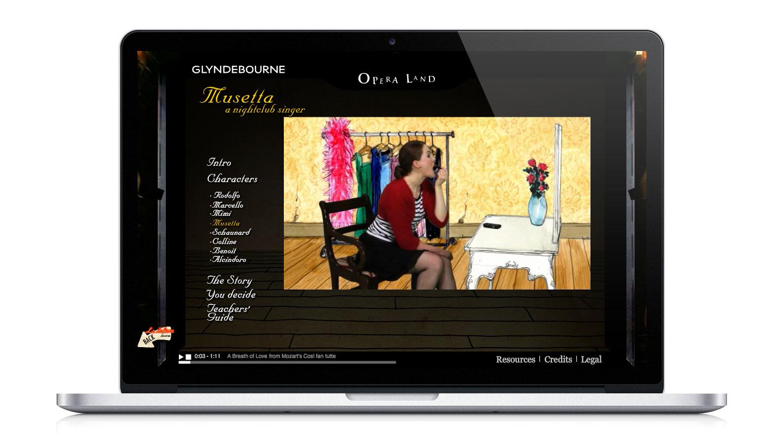 Glyndebourne Operaland Website for young people showing La Boheme video