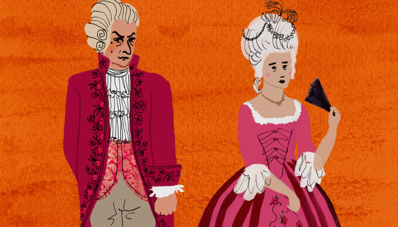 Glyndebourne the marriage of figaro illustration