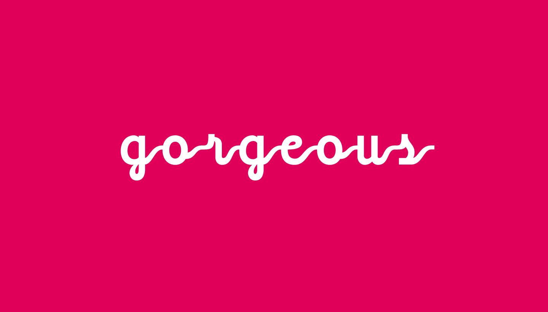 Gorgeous PR white logo on pink