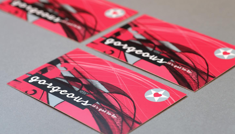 business card designs - Gorgeous PR