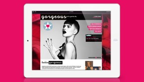 Website design - Gorgeous PR - ipad