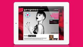 Website design - Gorgeous PR - ipad