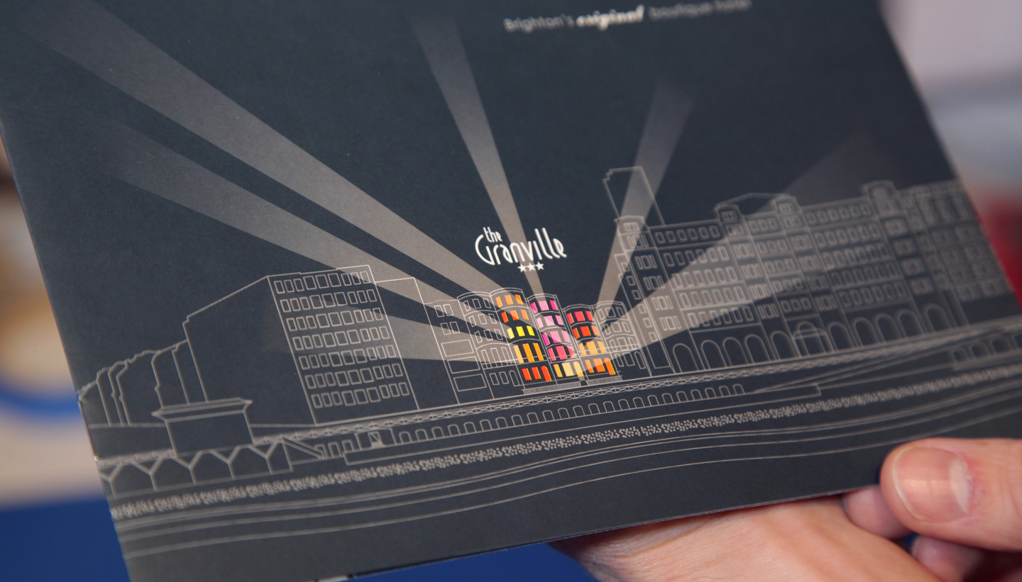 Granville Hotel Brighton brochure designed by Toop Studio