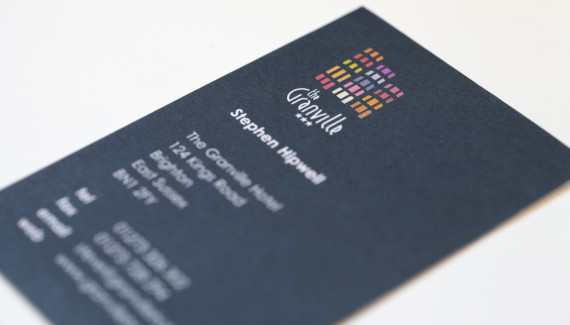 Granville hotel business card