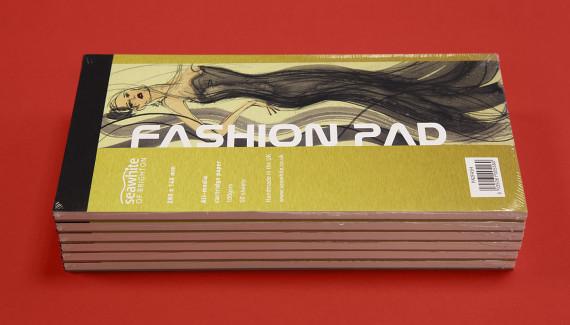 pile of Seawhite fashion sketchbooks