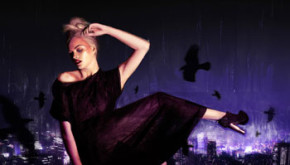 Fashion Illustration that mixes photography and painting - Titled Heaven and Hell this project depicts models floating above a city at night - by artist Shadric Toop