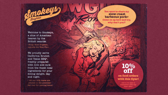 Smokeys barbecue restaurant brighton flyer
