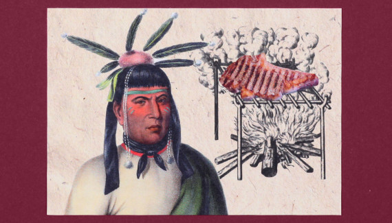 Smokeys story of brunch and barbecue card native American BBQ