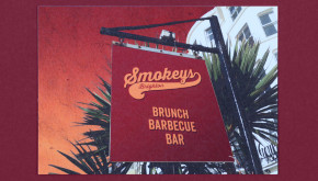 Smokeys American restaurant Brighton brunch barbecue and bar sign
