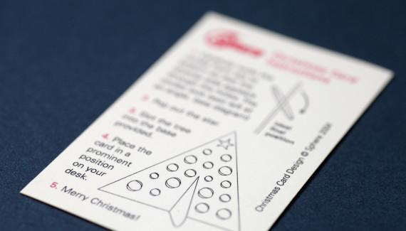Toop Studio DIY diecut decorated christmas tree card instructions card