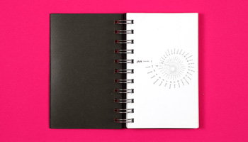 Sphere Millennium stationery diary year to view in a spiral