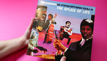 Record cover of Tom Caruana's Hip-hop ep The Splice of Life designed by Shadric Toop