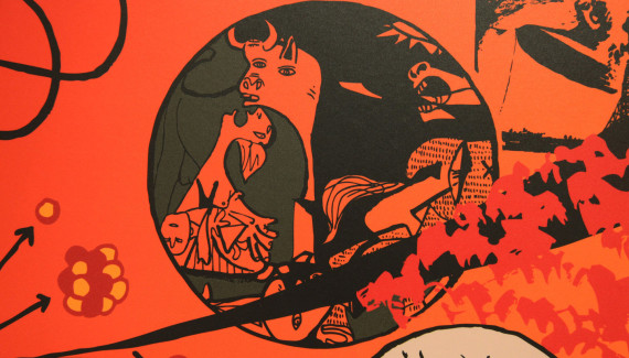 Springfield School reception wall detail5 featuring Pablo Picasso's Guernica
