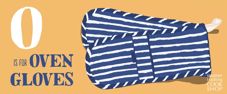 Steamer Trading Cookshop illustration oven gloves by Toop Studio
