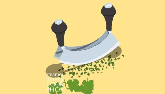 Steamer trading Cookshop illustration hachoir by Toop Studio
