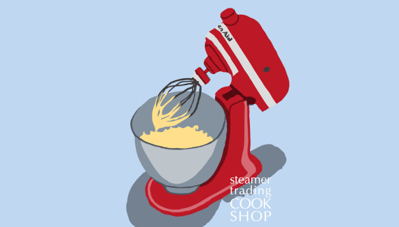 Steamer trading Cookshop illustration kitchen aid Classic Stand Mixer by Shadric Toop