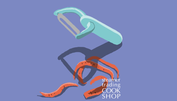 Steamer trading Cookshop illustration Y-shaped peeler by Toop Studio