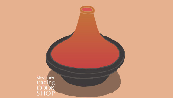 Steamer Trading Cookshop illustration tagine or tajine by Shadric Toop