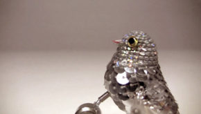 Christmas decoration bird with sequins