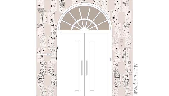 Varndean School Alan Turing wall graphic design