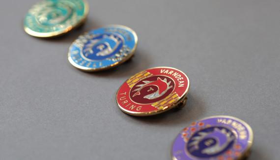 Varndean School branded badges