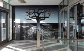 Wall Graphics - Wellington Academy foyer wall tree based on The theory of multiple intelligences by Howard Gardner
