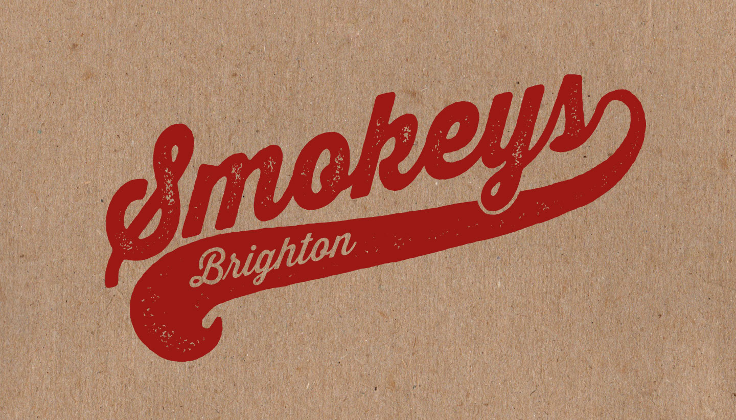 smokeys restaurant brighton logo on brown paper