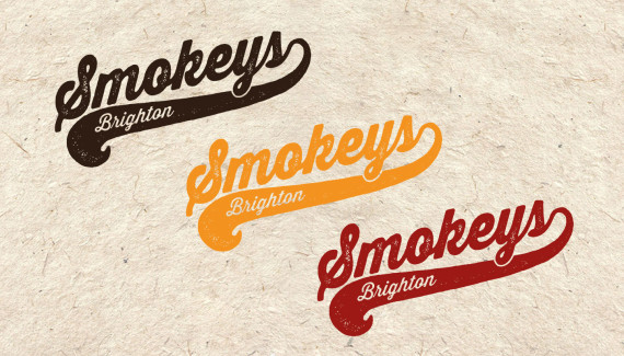 smokeys barbecue restaurant logos designed by toop studio