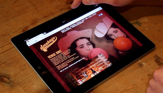 smokeys restaurant website ipad