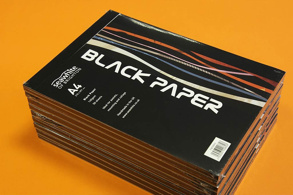 Seawhite Black Paper Pads - Cover designed by Toop Studio