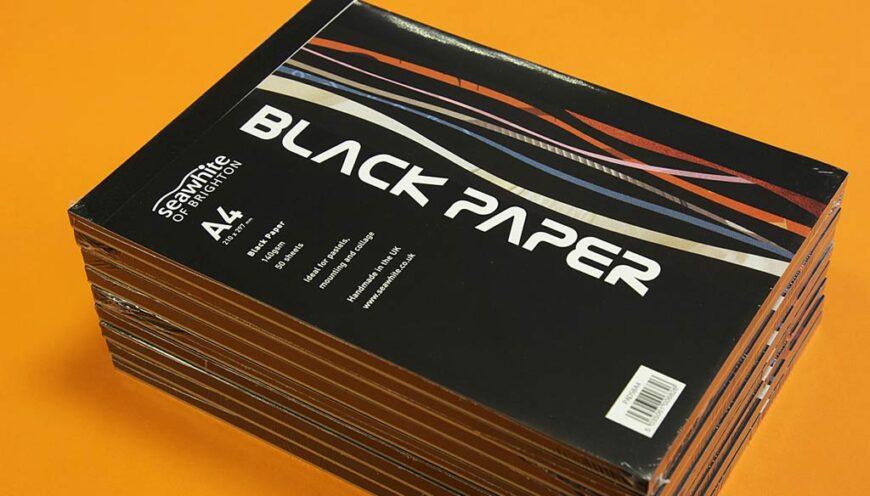 Seawhite Black Paper Pads - Cover designed by Toop Studio