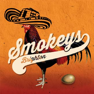 Thumbnail for Toop Studio's branding services link showing a chicken with a Mexican hat and the Smokeys Brighton logo