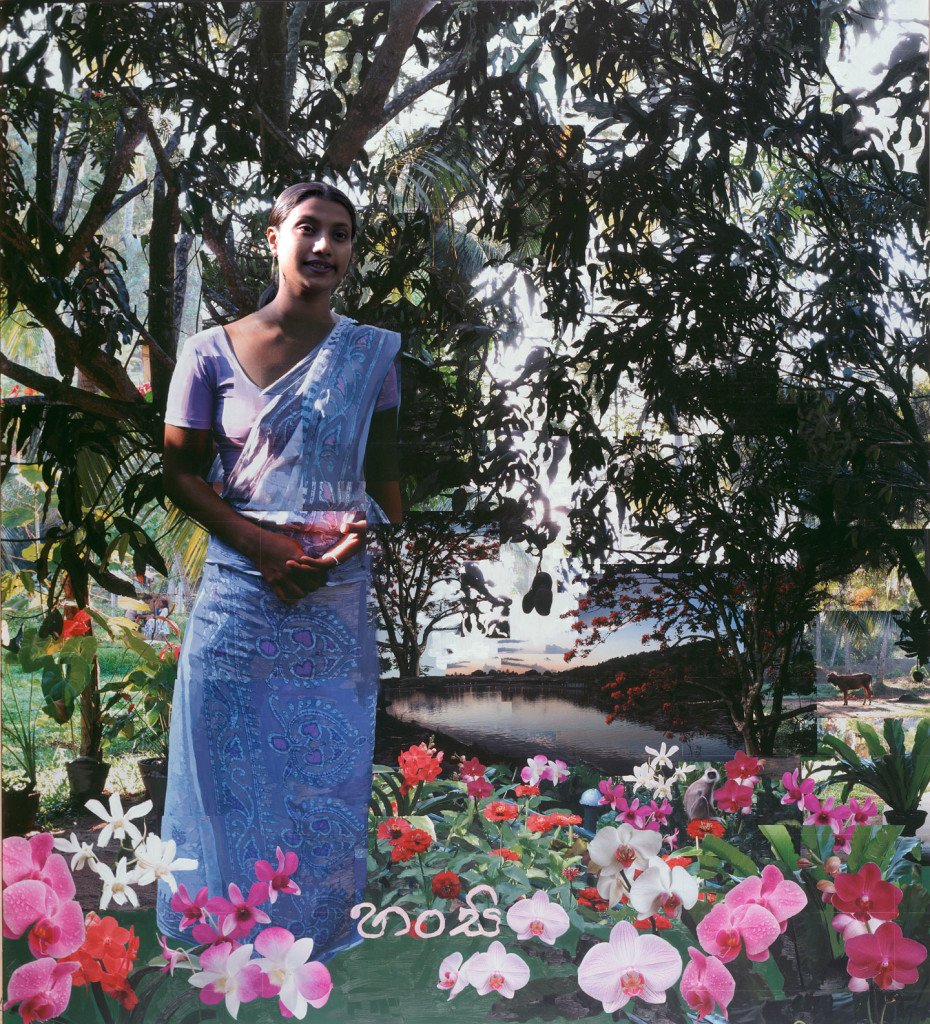 Hansi hotel receptionist in Sri Lanka