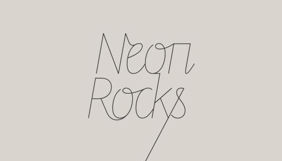 Logo design - downward tail version - for Neon Rocks Brighton PR agency